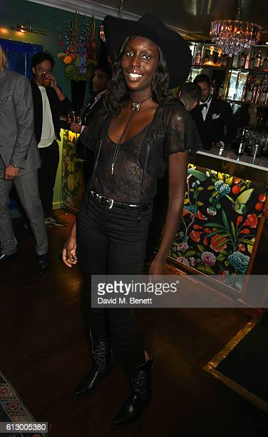 Jenny Bastet attends the Another Man A/W launch event hosted by Harry Styles Alister Mackie and Kris Van Assche at Albert's Club on October 6 2016 in...