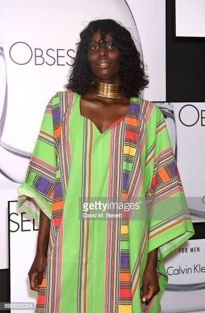 Jenny Bastet attends the Kate Moss Mario Sorrenti launch of the OBSESSED Calvin Klein fragrance launch at Spencer House on June 22 2017 in London...