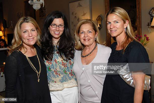 Jenny Belhushi Jill Eisenstadt Louise Moffet and Cystal Moffet attend Cocktails at Hollyhock Honoring Mish NY and the Breast Center at UCLA at West...