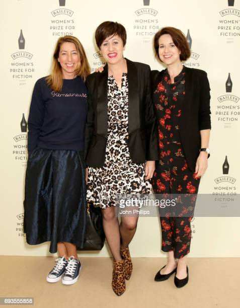 Jenny Colgan Tracey Thorn and Stephanie Merritt attend the Baileys Women's Prize for Fiction 2017 at the Royal Festival Hall on June 7 2017 in London...