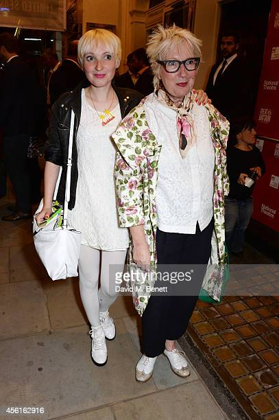 Jenny Eclair and daughter Phoebe pose in the foyer following the press night performance of 'Great Britain' at the Theatre Royal Haymarket on...