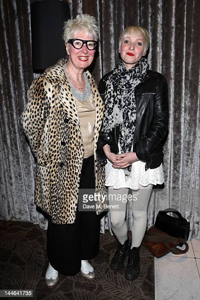 Jenny Eclair and her daughter attend the after party for 'What The Butler Saw' at the The Waldorf Hilton Hotel on May 16 2012 in London England