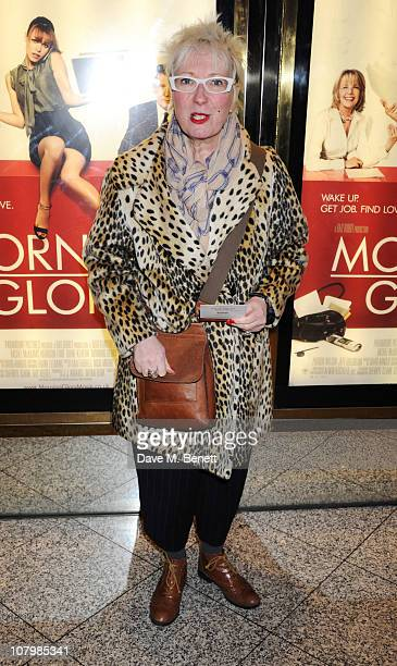 Jenny Eclair arrives at the UK film premiere of 'Morning Glory' at the Empire Cinema Leicester Square on January 11 2011 in London England