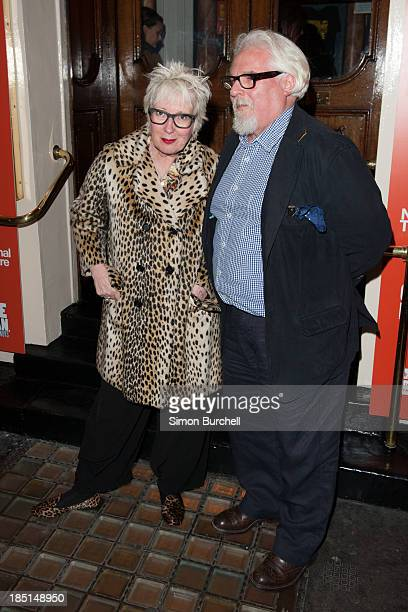 Jenny Eclair attends the press night for the new cast of 'One Man Two Guvnors' at Theatre Royal on October 17 2013 in London England