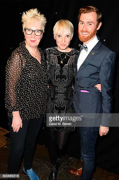 Jenny Eclair Phoebe Powell and Dan Ayling at the After Party for the press night performance of 'A Christmas Carol' at the Noel Coward Theatre on...