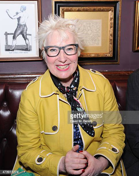 Jenny Eclaire attends a drinks reception following the VIP performance of 'Sunny Afternoon' at the Tom Cribb pub on May 18 2015 in London England