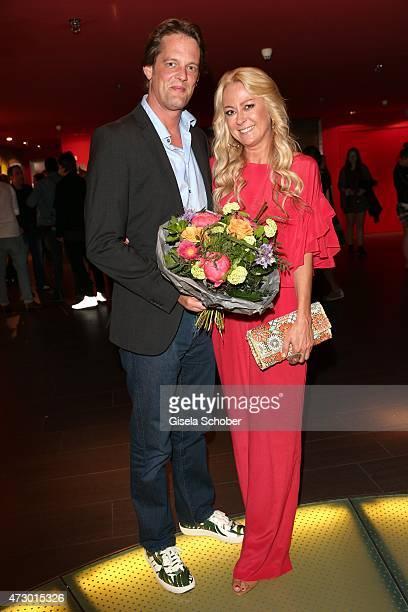 Jenny Elvers and her boyfriend Steffen von der Beeck during the premiere for the film 'Abschussfahrt' at Mathaeser Filmpalast on May 11 2015 in...