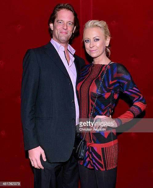 Jenny Elvers and Steffen von der Beeck attend 'SAT1 Fiction Event 2013' photocall at Stage Theatre on November 21 2013 in Hamburg Germany
