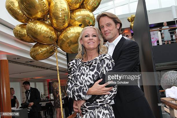 Jenny Elvers and Steffen von der Beeck attend the '20 Jahre Gala' Anniversary Celebration The Private Birthday Cruise on board of 'MS Europa 2' on...