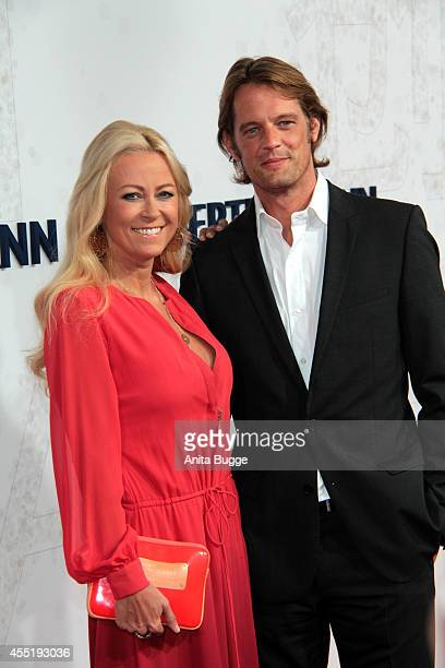 Jenny Elvers and Steffen von der Beeck attend the Bertelsmann Summer Party at the Bertelsmann representative office on September 10 2014 in Berlin...