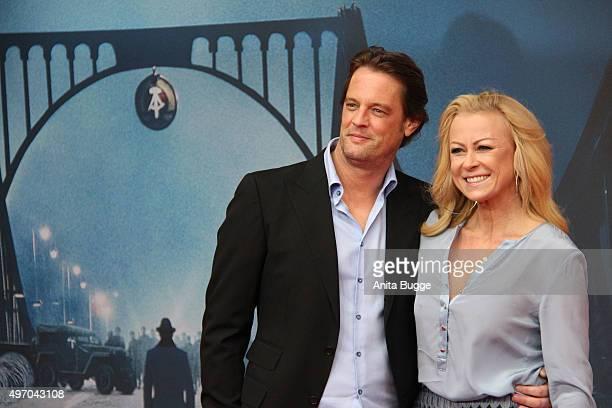 Jenny Elvers and Steffen von der Beeck attend the 'Bridge of Spies Der Unterhaendler' world premiere at Zoo Palast on November 13 2015 in Berlin...
