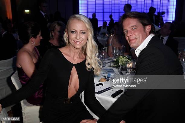 Jenny Elvers and Steffen von der Beeck attend the 'Dolphin's Night 2013' at InterContinental Hotel on November 30 2013 in Dusseldorf Germany