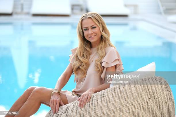 Jenny Elvers during the Zhero hotel and 'Bahia Mediterraneo' restaurant opening on June 3 2017 in Palma de Mallorca Spain