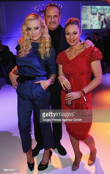 Jenny ElversElbertzhagen Goetz Elbertzhagen and Ruth Moschner attend the 'Medienboard Reception' at the Ritz Carlton Hotel during day three of the...