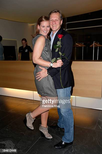Jenny FalckenbergBlunck and Christian Blunck attend the opening night of 'Smoke@thewater' by Tom Lemke at the der Richard Meier Villa on October 23...