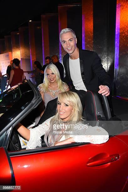 Jenny Frankhauser Julian David and Annemarie Eilfeld attend the Alcatel Entertainment Night on September 2 2016 in Berlin Germany