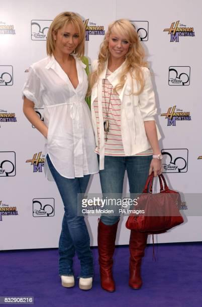 Jenny Frost and Liz McClarnon arrive for Disney sensation Hannah Montana's debut UK gig at Koko in Camden north London