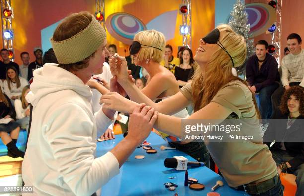 Jenny Frost and Liz McClarnon from Atomic Kitten during their guest appearance on MTV's TRL UK at the MTV Studios in Camden north London * The girls...