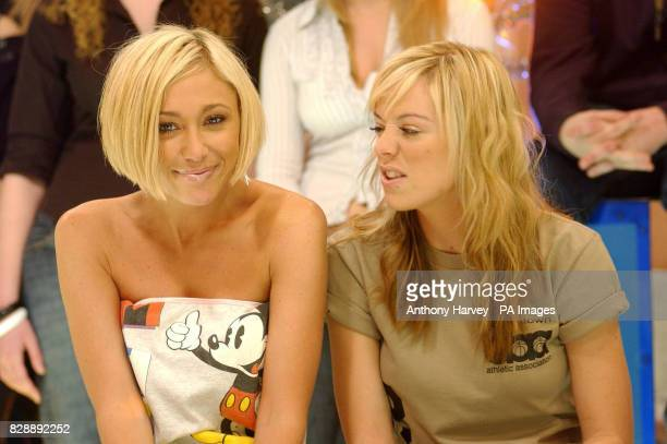 Jenny Frost and Liz McClarnon from Atomic Kitten during their guest appearance on MTV's TRL UK at the MTV Studios in Camden north London The girls...