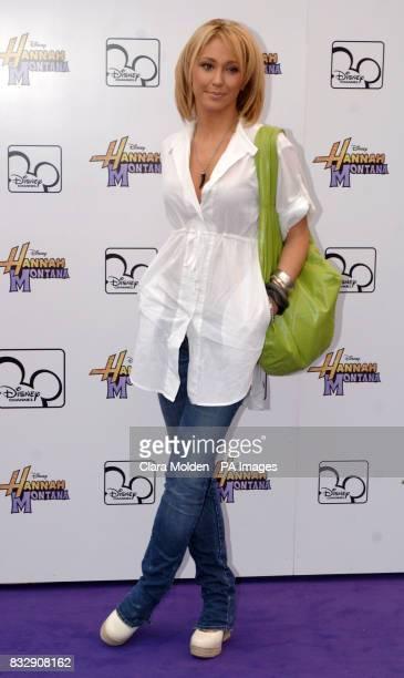 Jenny Frost arrives for Disney sensation Hannah Montana's debut UK gig at Koko in Camden north London