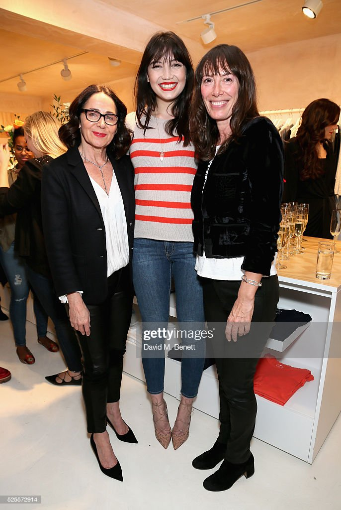 Jenny Graham, <a gi-track='captionPersonalityLinkClicked' href=/galleries/search?phrase=Daisy+Lowe&family=editorial&specificpeople=787647 ng-click='$event.stopPropagation()'>Daisy Lowe</a> and Toni Spencer attend the launch of the first UK Velvet by Graham and Spencer store at St Christopher's Place on April 28, 2016 in London, United Kingdom.