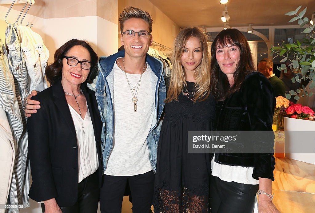 Jenny Graham, <a gi-track='captionPersonalityLinkClicked' href=/galleries/search?phrase=Oliver+Proudlock&family=editorial&specificpeople=9079738 ng-click='$event.stopPropagation()'>Oliver Proudlock</a>, Emma Louise Connolly and Toni Spencer attend the launch of the first UK Velvet by Graham and Spencer store at St Christopher's Place on April 28, 2016 in London, United Kingdom.