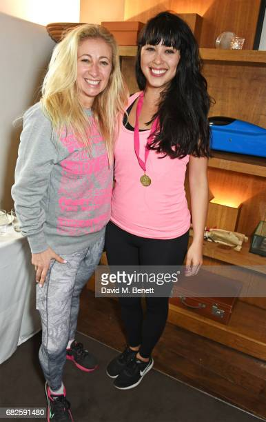Jenny Halpern Prince and Melissa Hemsley attend the Lady Garden brunch following the 5K 10K Fun Run in aid of Silent No More Gynaecological Cancer...