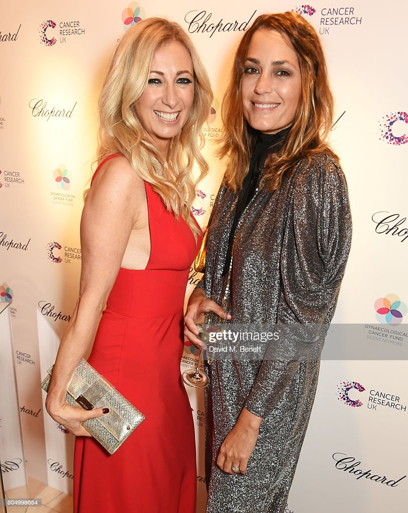 Jenny Halpern Prince (L) and Yasmin Le Bon attend The Lady Garden Gala hosted by Chopard in aid of Silent No More Gynaecological Cancer Fund and Cancer Research UK at Claridge's Hotel on January 14, 2016 in London, England.