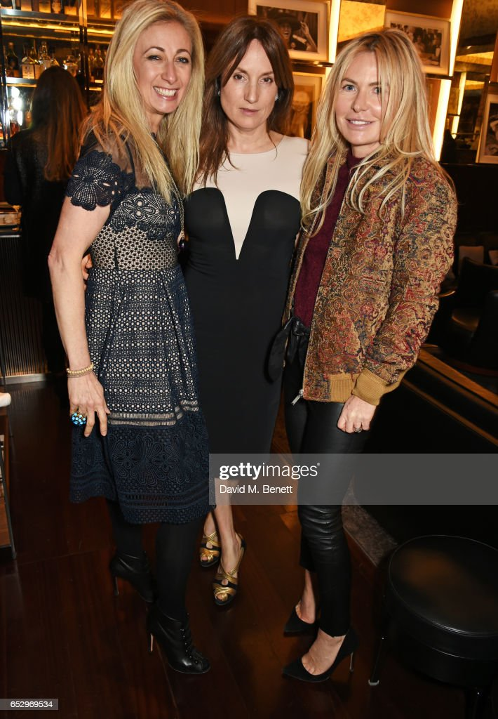 Jenny Halpern-Prince, Emily Oppenheimer and Sam Heyworth attend a cocktail party at the Bulgari Hotel London to celebrate the launch of MIASUKI at Harrods on March 13, 2017 in London, England.