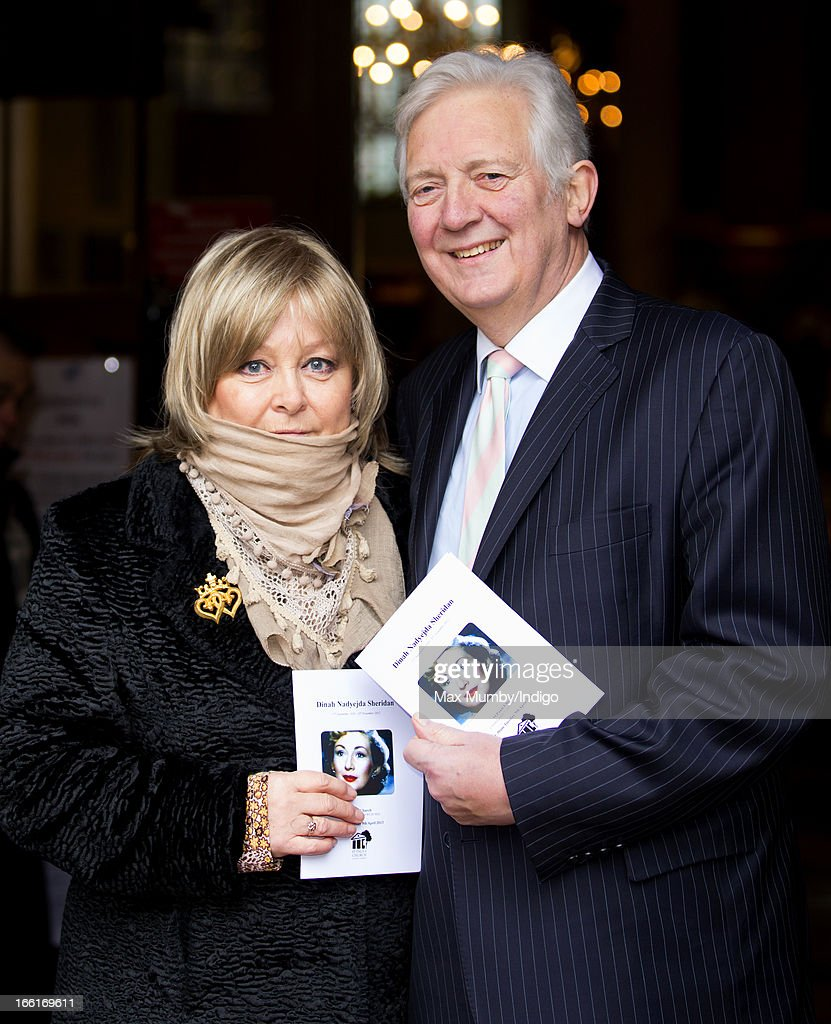 Jenny Hanley and Sir Jeremy Hanley attend a memorial for their mother actress Dinah Sheridan at St Paul's Church, Covent Garden on April 9, 2013 in London, England. Dinah Sheridan best known for her roles in Genevieve, The Railway Children and Don't Wait Up died on November 25, 2012.