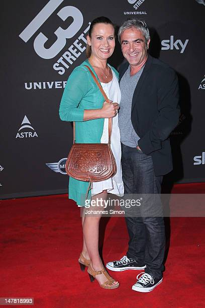 Jenny Juergens and boy friend David Carreras attend the Shocking Shorts Award at former Tivoli power station on July 3 2012 in Munich Germany The...