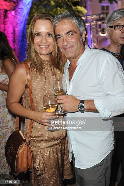 Jenny Juergens and her boyfriend David Carrera attend the 'Tele 5 Director's Cut' during the Munich Film Festival at the Praterinsel on June 30 2012...