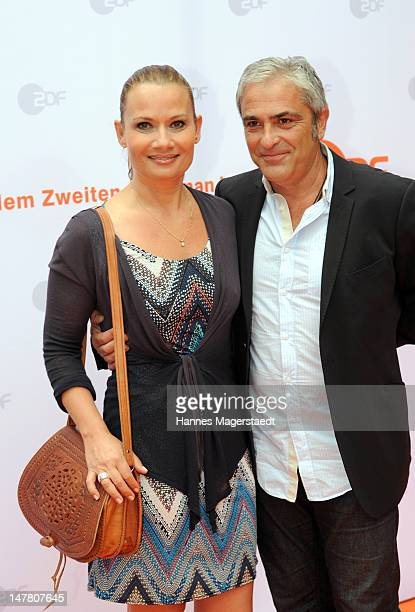 Jenny Juergens and her boyfriend David Carreraattend the ZDF reception during the Munich Film Festival 2012 at the H'ugo's on July 3 2012 in Munich...