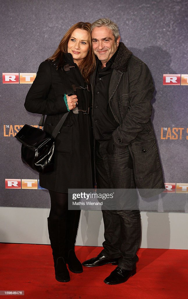 Jenny Juergens and his husband David Carreras attend the 'The Last Stand' Cologne Premiere at Astor Film Lounge on January 21, 2013 in Cologne, Germany.
