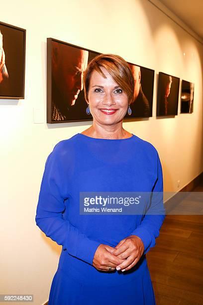 Jenny Juergens attends the Herzwerk Vernissage 'auf den 2ten Blick' at City Hall on August 19 2016 in Duesseldorf Germany