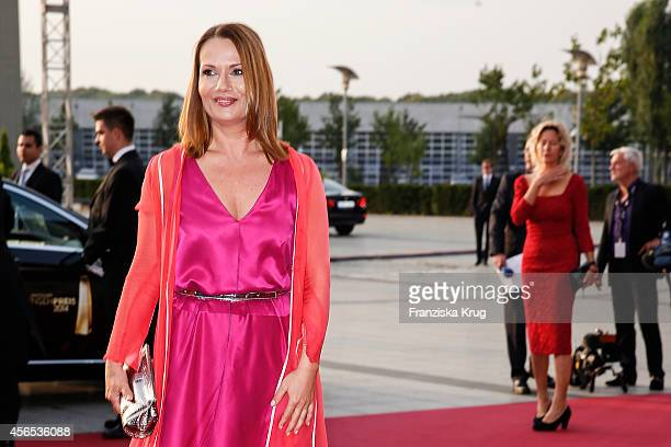 Jenny Juergens attends the red carpet of the Deutscher Fernsehpreis 2014 on October 02 2014 in Cologne Germany