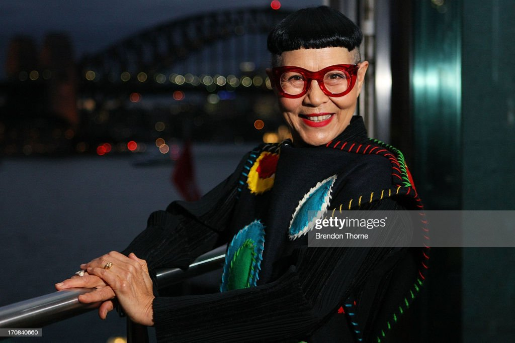 Jenny Kee poses after winning the Australian Fashion Laureate Award at the Pullman Grand Quay Hotel on June 19, 2013 in Sydney, Australia.