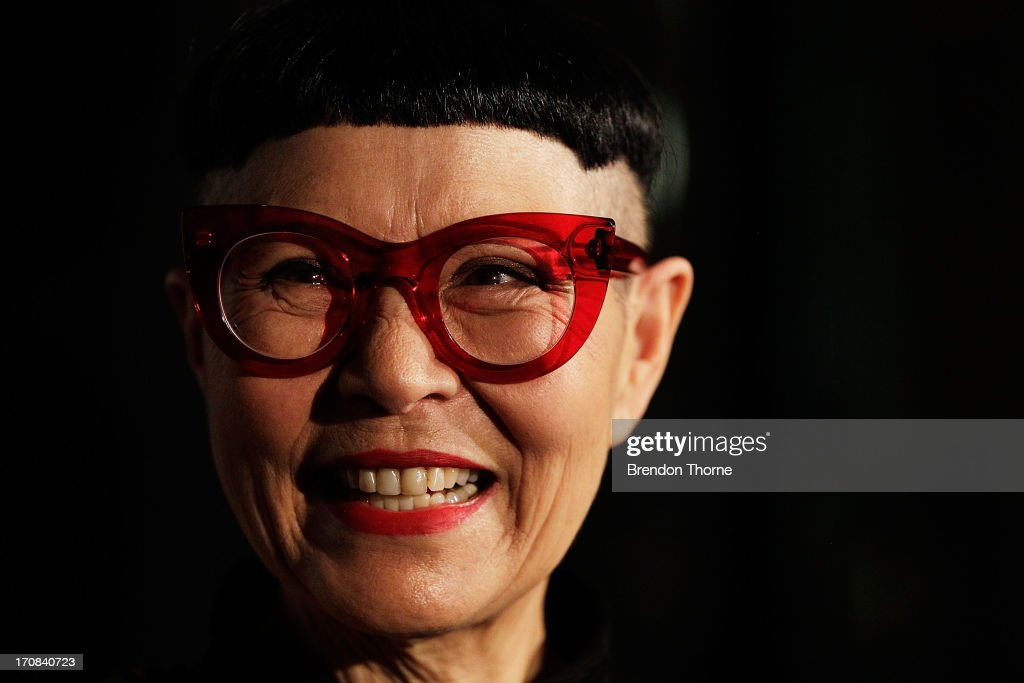 Jenny Kee speaks with fellow nominees after winning the Australian Fashion Laureate Award at the Pullman Grand Quay Hotel on June 19, 2013 in Sydney, Australia.