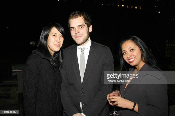 Jenny Kim Daniel Motta and Sheila Santos attend CFDA Awards Nominee Announcement Cocktail Party Hosted by SWAROVSKI at Top of the Rock on March 12...