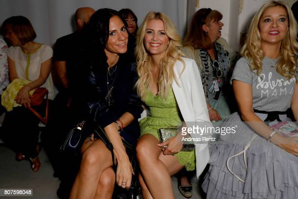 Jenny Knaeble and guest attend the Ewa Herzog show during the MercedesBenz Fashion Week Berlin Spring/Summer 2018 at Kaufhaus Jandorf on July 4 2017...