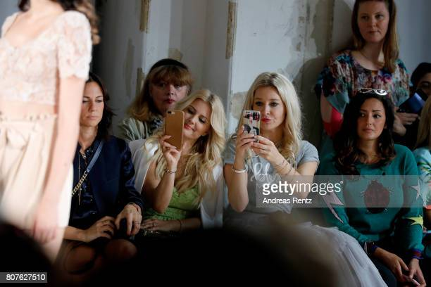 Jenny Knaeble and guests attend the Ewa Herzog show during the MercedesBenz Fashion Week Berlin Spring/Summer 2018 at Kaufhaus Jandorf on July 4 2017...