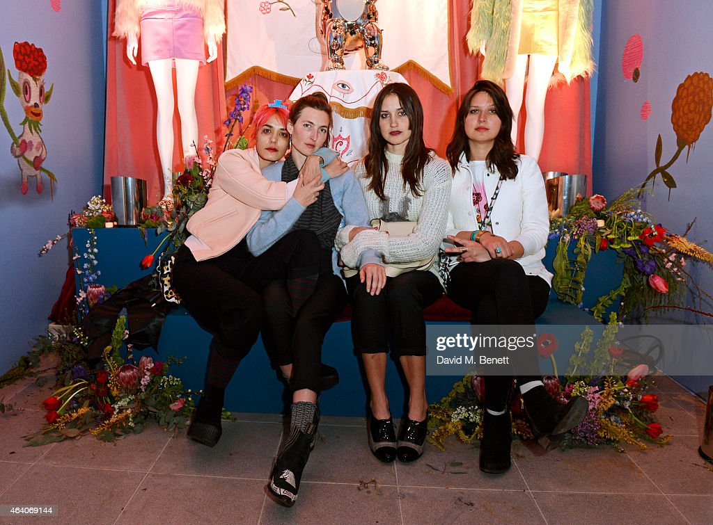 Jenny Lee Lindberg, Emily Kokal, Theresa Wayman and Stella Mozgawa of Warpaint attend the Coach X Serpentine The Future Contemporaries Party at The Serpentine Sackler Gallery on February 21, 2015 in London, England.