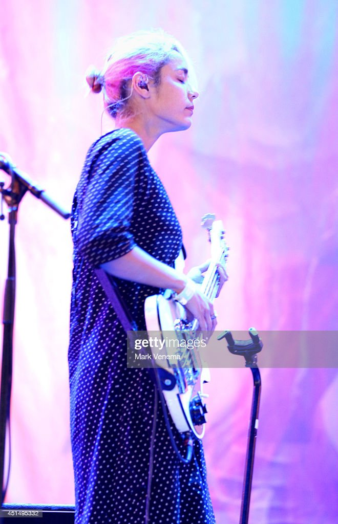 Jenny Lee Lindberg of Warpaint performs at Day 3 of Down The Rabbit Hole Festival at De Groene Heuvels on June 29 2014 in Beuningen Netherlands