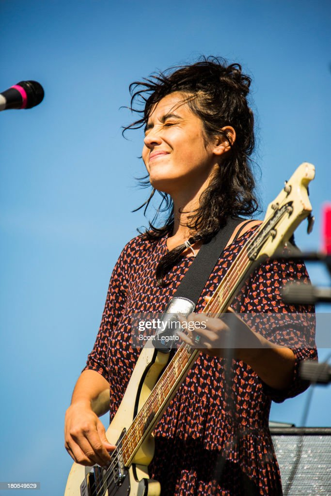 Jenny Lee Lindberg of Warpaint performs during the St Jerome's Laneway Festival at Meadow Brook Music Festival on September 14 2013 in Rochester...