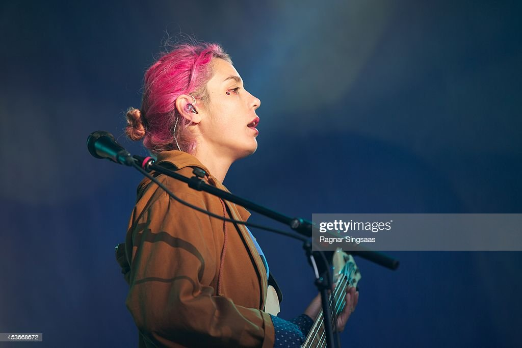 Jenny Lee Lindberg of Warpaint performs on Day 1 of Pstereo Festival on August 15 2014 in Trondheim Norway