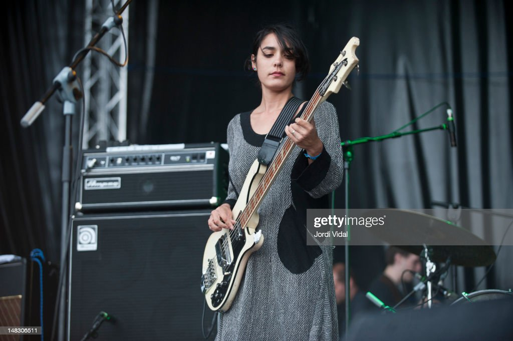<a gi-track='captionPersonalityLinkClicked' href=/galleries/search?phrase=Jenny+Lee+Lindberg&family=editorial&specificpeople=7132996 ng-click='$event.stopPropagation()'>Jenny Lee Lindberg</a> of Warpaint performs on stage during BBK Live at Kobetamendi on July 13, 2012 in Bilbao, Spain.
