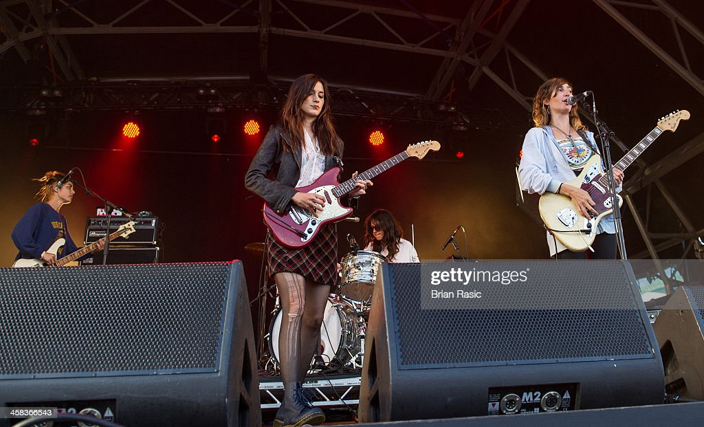 Jenny Lee Lindberg Theresa Wayman Emily Kokal and Stella Mozgawa perform on stage during day one of Barclaycard Presents British Summer Time Hyde...