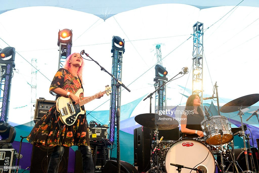 Jenny Lee LindbergStella Mozgawa of Warpaint performs onstage at Pickathon Festival in Happy Valley Oregon USA on 3rd August 2014