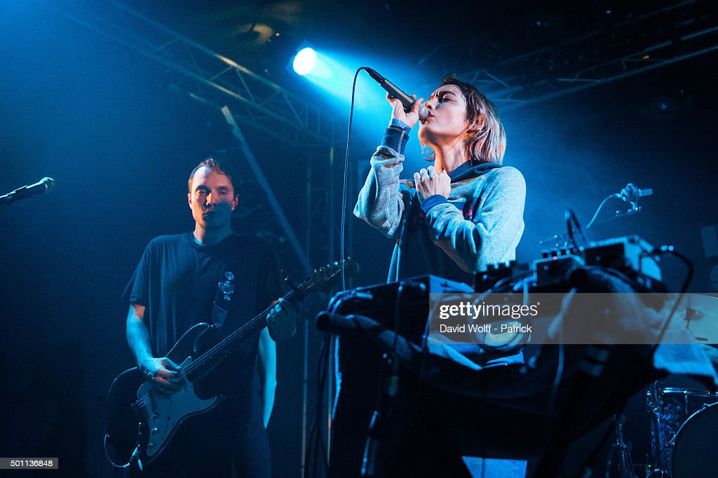 Jenny Lee performs at Le Point Ephemere on December 12 2015 in Paris France