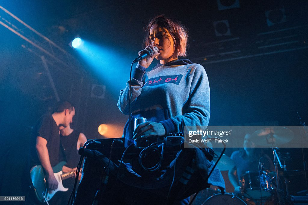 Jenny Lee performs at Le Point Ephemere on December 12, 2015 in Paris, France.